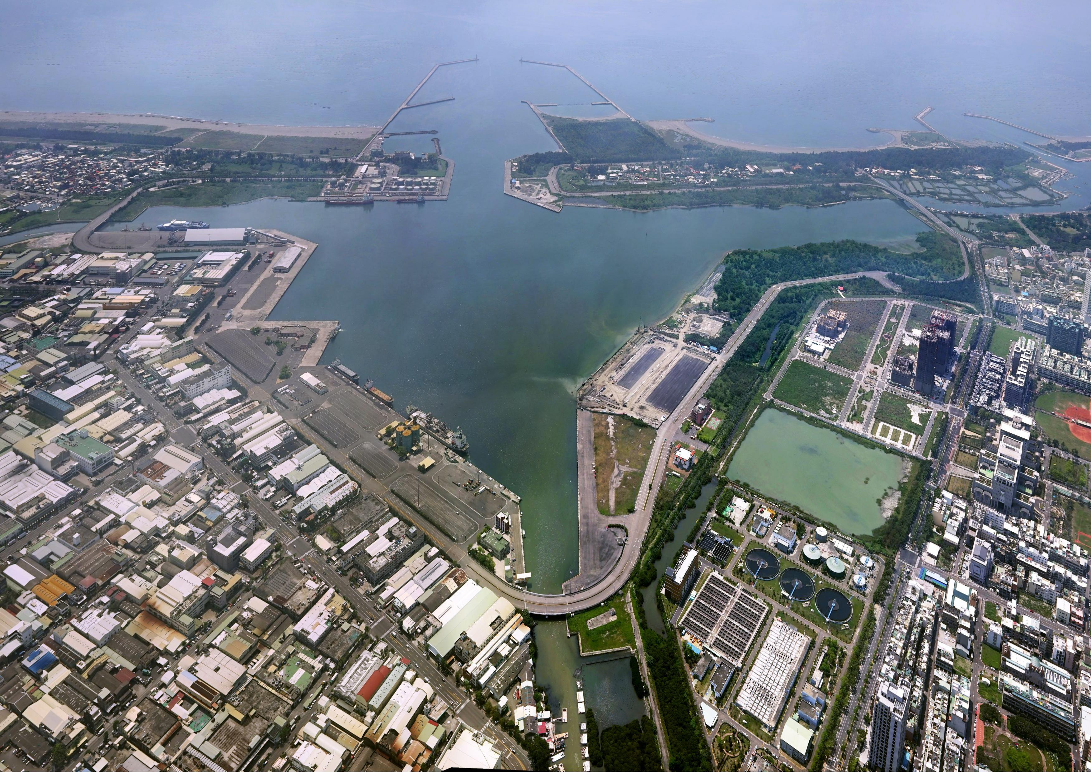 Port of Anping aerial photograph